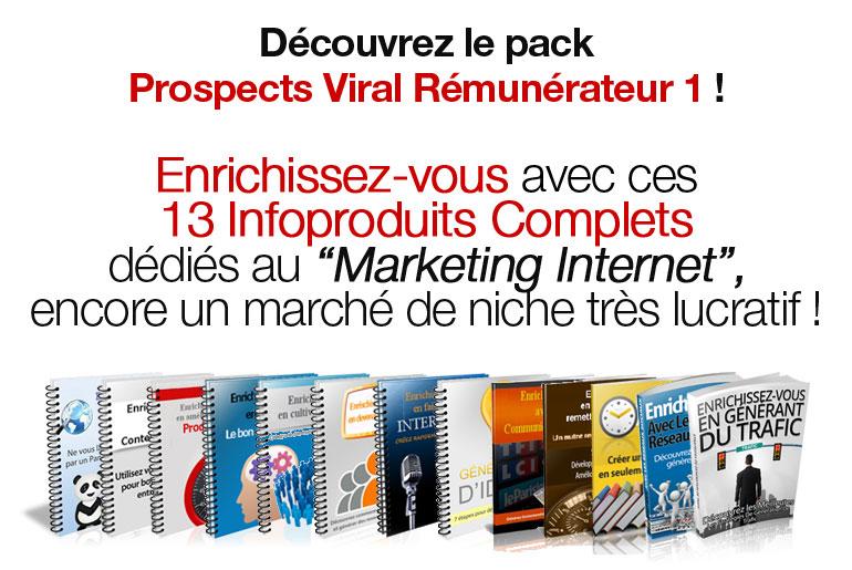Présentation Pack Prospects Viral Rémunérateur