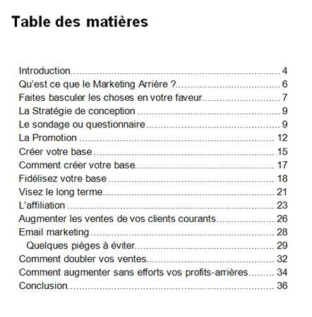 table-des-matières